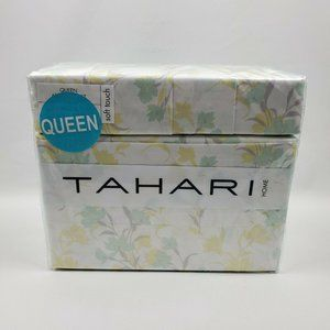 Tahari Home Soft Touch Floral Yellow Gree 6 Piece